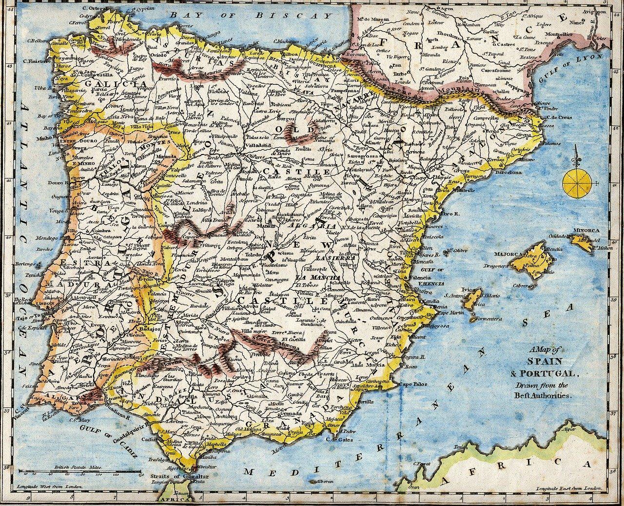 Spain Portugal Mediterranean  - WikiImages / Pixabay
