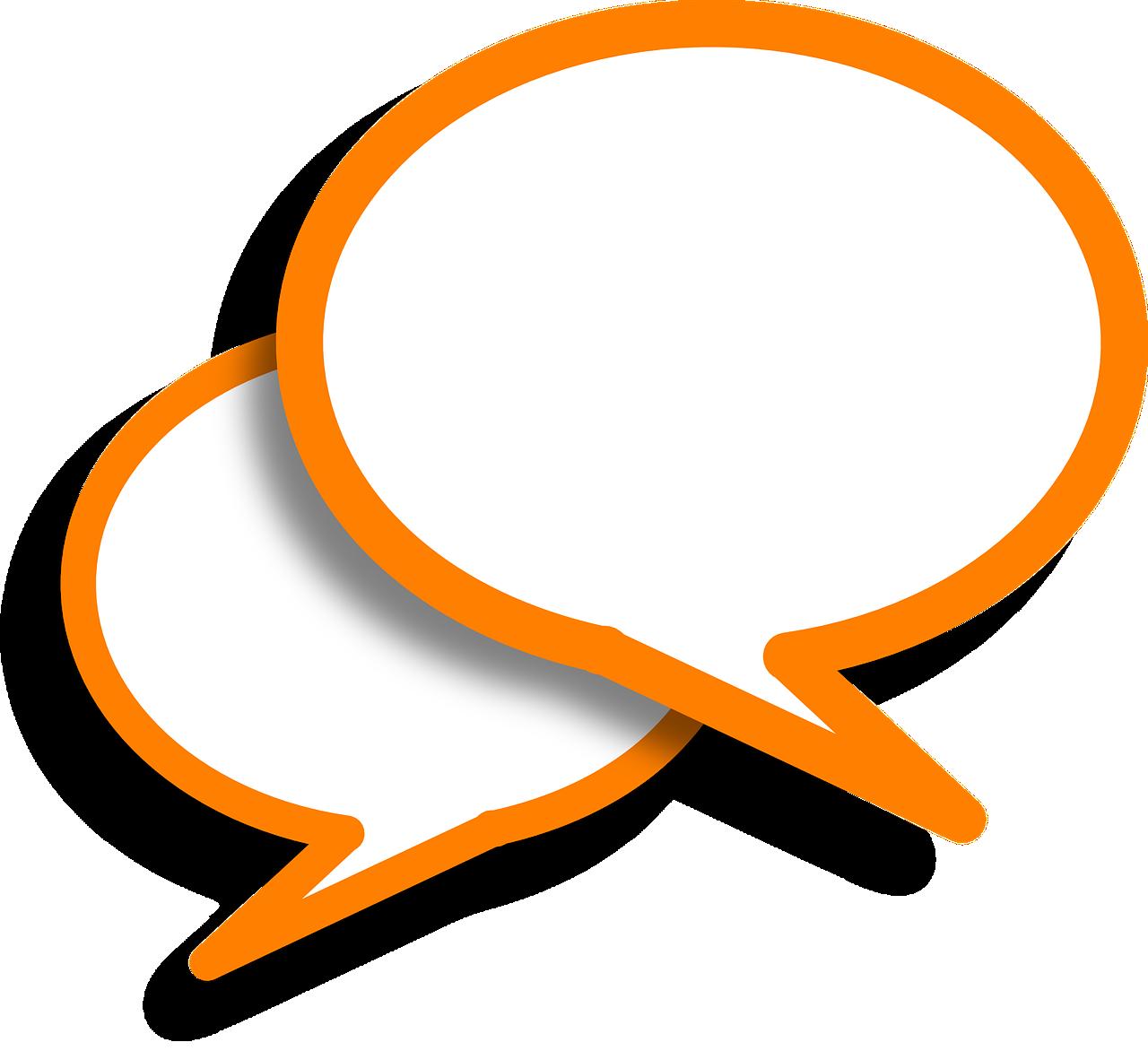 Speech Bubbles Comments Orange  - Clker-Free-Vector-Images / Pixabay